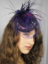 Purple Fascinators